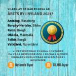 Bekanta dig med kandidaterna i tävlingen Årets nyländska by 2021