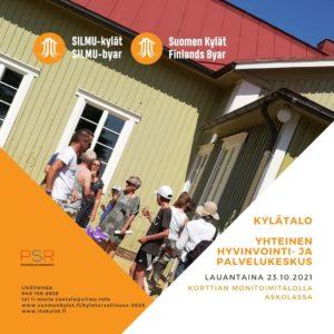Kylätalo - yhteinen hyvinvointi ja palvelukeskus @ Korttian Monitoimitalo